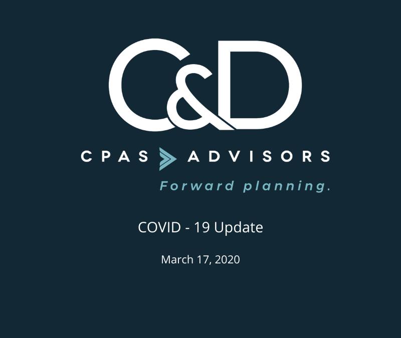 COVID-19 – March 17th Update
