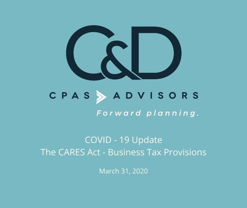 The CARES Act – Business Tax Provisions